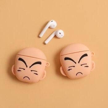 Anime dragon ball Kuririn etui na słuchawki Piccolo Goku pokrywa dla AirPods 1 2 zestaw słuchawkowy Bluetooth etui z funkcją ładowania fajne etui z hakiem