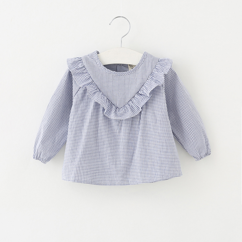 2020 Girls Clothes Long Sleeve Shirts For Girs Blouse Plaid Cotton Bbay Girls Princess Shirts Toddler Casual Infant Tops