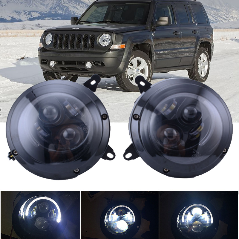 Car 75W 6000K Hi/Lo Beam Headlight Assembly For Jeep-Patriot 2011-2015 LED Headlight