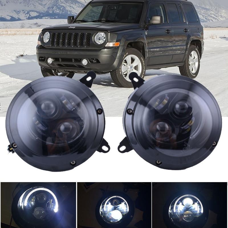 Car 75W 6000K Hi/Lo Beam Headlight Assembly For Jeep-Patriot 2011-2015 LED Headlight