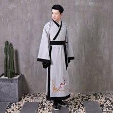 2021 tradicional traje masculino hanfu cosplay palco desempenho traje para fotografia antigo espadachim roupas masculino tang terno