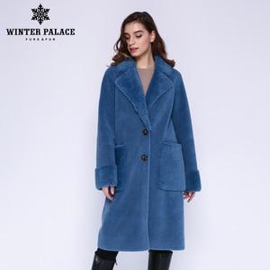 Image 3 - חורף ארמון 2019 נשים של חדש צמר מעיל ארוך חליפת צווארון עם 30% צמר חורף חם קלאסי סגנון פרווה מעיל צמר תערובת מרובה