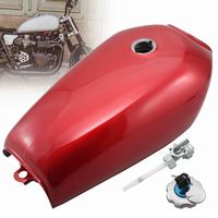 9L 2.4 Gal Motorcycle Retro Fuel Oil Gas Tank Cafe Racer Vintage With Tap+Key+Lock Cap For Honda CG125 Honda CG125S CG250