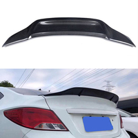 For Hyundai Verna Accent spoiler 2010 2016 year rear wing Renntech style Sport body kit Accessories real carbon fiber