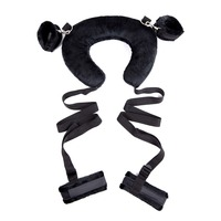 Sex Bondage Toys Neck Pillow Hands Tied Handcuffs Ankle Cuffs Sex Toy For Couple Bdsm Manacle Black Exotic Accessories Wholesale