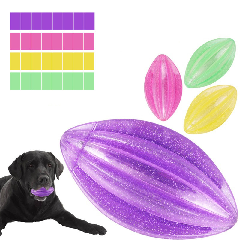 Pet Popular Toy Flashing Elasticity Ball Dog Puppy Toys Chew Tooth Clean Train Extra-tough Petshop Toy Small Large Dogs Supplies
