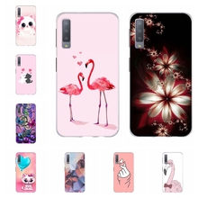 For Samsung Galaxy A3 A7 2018 Case TPU J1 2016 Cover Flowers Pattern J2 Core Prime Capa