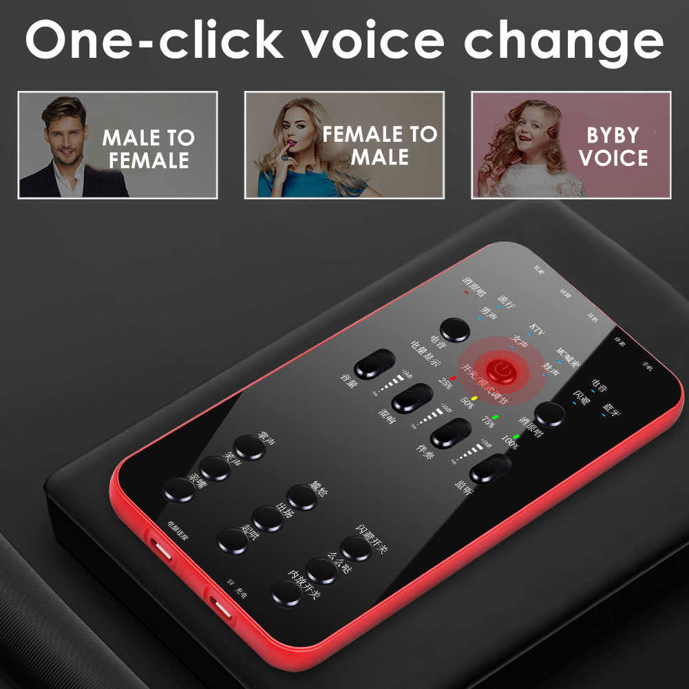 Uniwersalny zewnętrzny zestaw słuchawkowy Audio mikrofon Webcast karta dźwiękowa na żywo elektryczna transmisja dźwięku dla telefonu, komputera PC