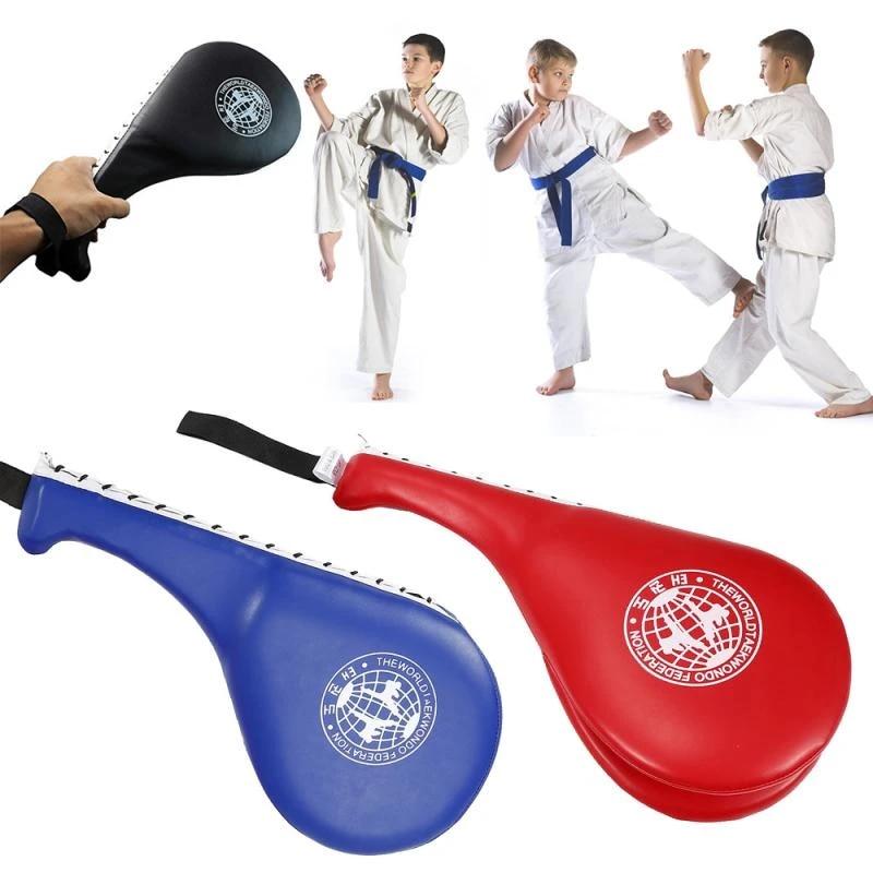 Blue #N//A Taekwondo Kick Pads Boxing Target Pad PU Leather Boxing Foot Hand Target Taekwondo Kick Pads Kicking Strike Pad Training Equipments for Punching Boxing Training
