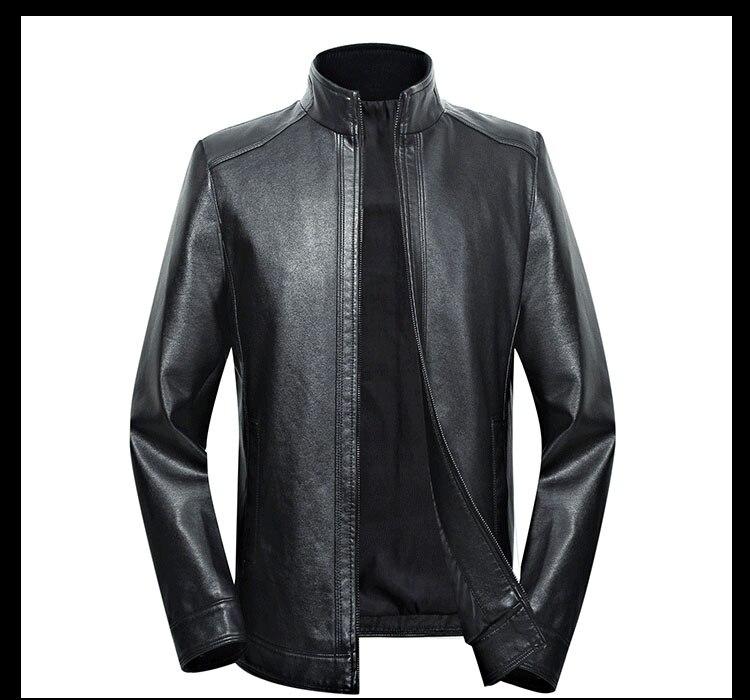 Plus size men genuine leather jacket 4XL 5XL 6XL 2020 spring and autumn zipper male sheepskin leather jacket father outwear P07