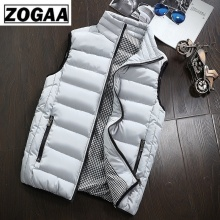 ZOGAA Korean Fashion Man Clothes Vest Men New Stylish 2019 Spring Autumn Warm Sleeveless Jacket Winter Waistcoat Mens