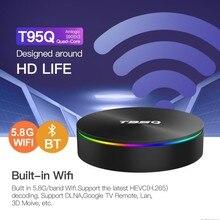 Tv box T95Q amlogic s905x3 ott tv box dual band Bluetooth Android 9.0 Set top box