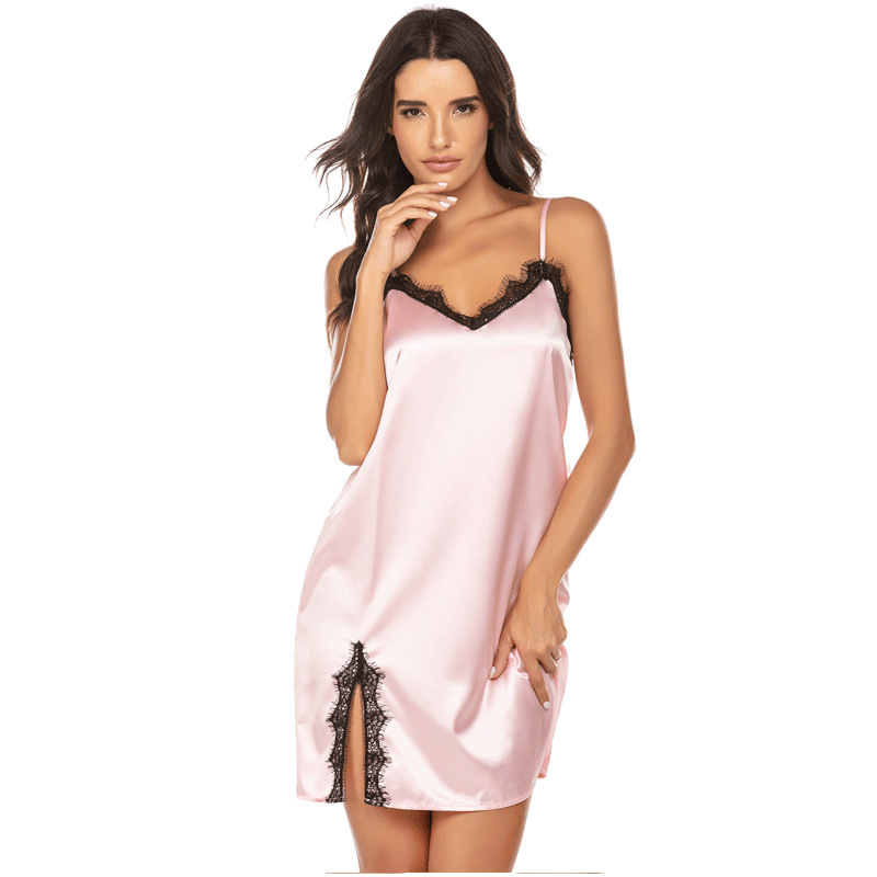 Image 4 - Sleepwear women sexy Plus Size S XXL night dress  Casual Lounge nightgowns lingerie dress Women Clothes Summer 2020Nightgowns & Sleepshirts   -