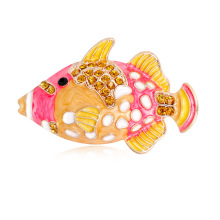 Custom personality cartoon carp European and American animal brooch 100 women Enamel brooch stock цена 2017