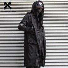 11 bybb's dark wizard capa falso dois jaqueta homens gótico punk streetwear jaqueta casacos tático função blusão com capuz