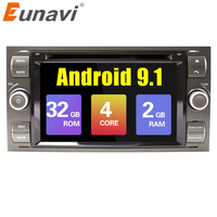 Eunavi 2 din Android 9.1 Car DVD GPS Radio stereo For Ford Mondeo S max Focus C MAX Galaxy Fiesta Form Fusion Multimedia PC DSP