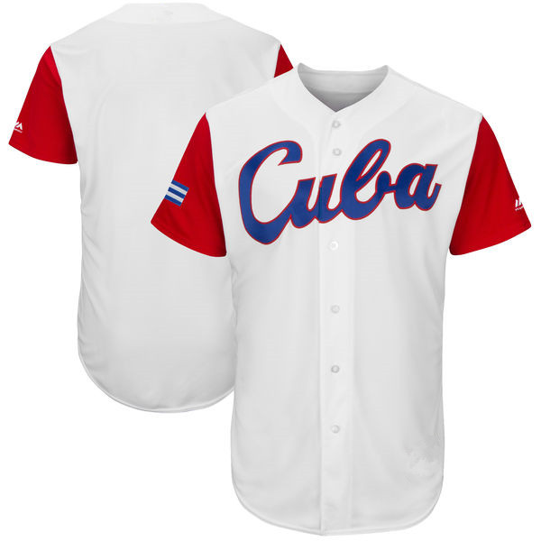 Custom Cuba Quick-Dry Flexible Short T-shirts Cheap 2017 World Baseball Classic Shirt Jersey For Men Women Youth