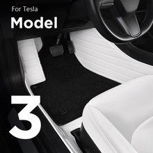 Alfombrillas de cuero para coche, alfombrillas de color blanco para Tesla Model 3, Interior, a prueba de polvo, model3, accesorios