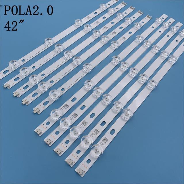 """100% جديد 9 المصابيح 850 مللي متر LED شريط إضاءة خلفي ل LG 42 بوصة TV T420HVN05.2 inنوت k POLA2.0 42 """"A بولا 2.0 42 B نوع T420HVN05.0"""