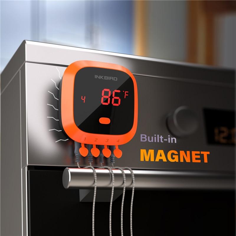 Inkbird IBT 4XC Водонепроницаемый Bluetooth беспроводной дистанционный термометр для барбекю 4 зонда Цифровой термометр для приготовления пищи и мяса - 3