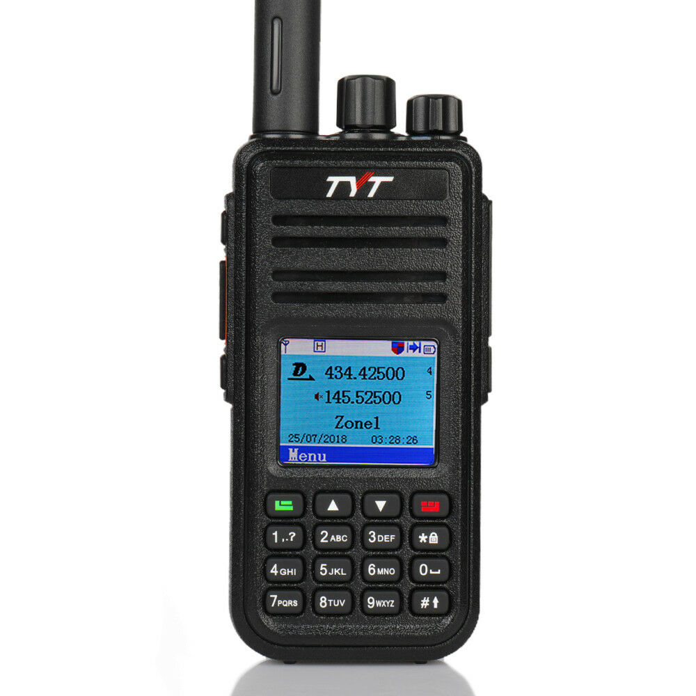TYT DMR Digital Mobile Radio TYT MD-380 Tytera Walkie Talkie 1000 Channel Professional Two Way Radio UHF 400-480MHz