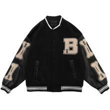 Stitching Baseball Uniform 2021 Spring And Autumn New Jacket Retro Loose Jacket Ins Street Fashion Brand