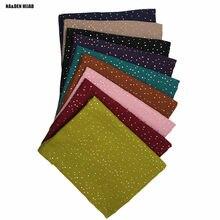 Bufanda brillante de algodón y viscosa para mujer, bufanda brillante con estampado musulmán, gran oferta