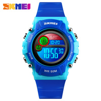 SKMEI NEW Kids Watch Fashion Waterproof Plastic Case Alarm Luminous Wristwatch Boys Girls Digital Children Watches 1477