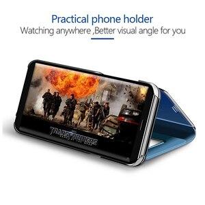 Image 2 - Smart Spiegel Flip Fall Für Samsung Galaxy S10 Lite S9 S8 S7 Rand A8 A9 A7 A5 A6 Plus 2018 a10 A20 A30 A40 A50 A80 A90 A70 Abdeckung
