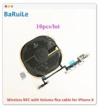 BaRuiLe 10 Chip Sạc Không Dây NFC Cuộn Dây Dành Cho iPhone X Sạc Miếng Dán Màn Hình WPC Miếng Lót Có Thể Tích Cáp Mềm các Bộ Phận