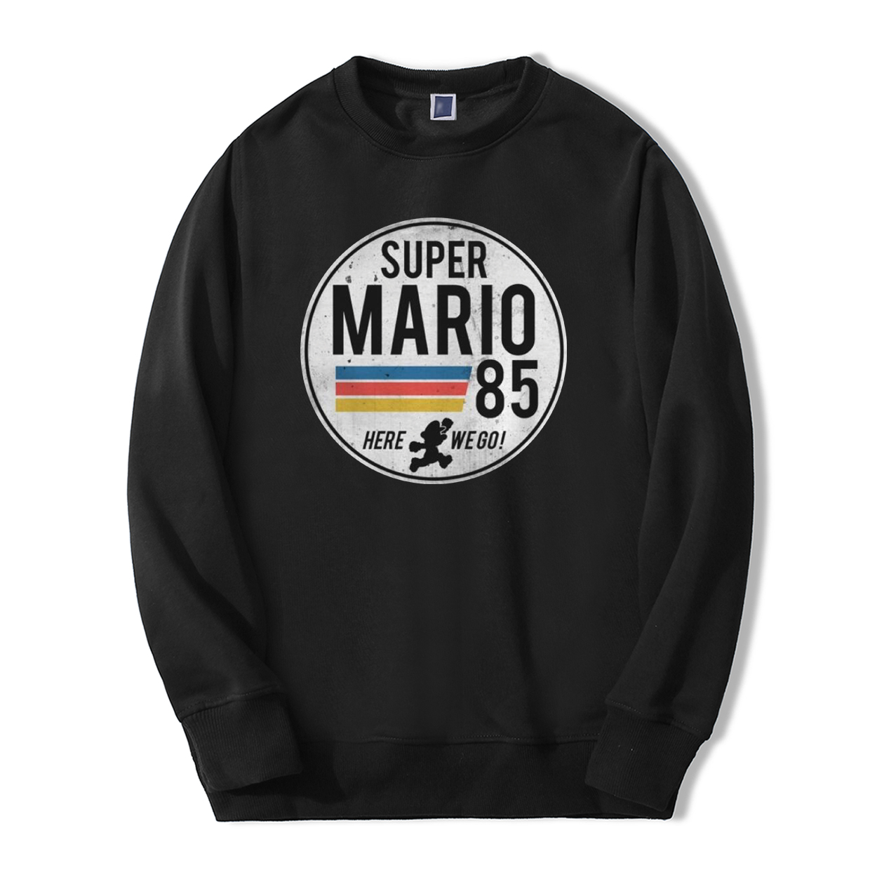 Fashion Super Mario 85 Men Sweatshirts Hoodies 2019 Spring Winter New Men Game Fashion Hip Hop Style Casual Harajuku Tracksuit