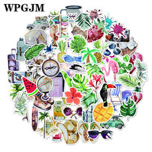 70Pcs Summer Style Animal and Plant Flower Sticker on The Car Motorcycle Luggage Laptop Scooter Notebook Phone Water Cup