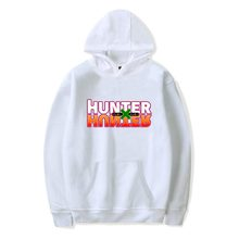 Harajuku Hunter x Hunter bluza męska bluza dres kobiet bluza z kapturem bluza Anime Hunter x Hunter drukuj pięć kolorów tanie tanio liser Pełna REGULAR Hunter x Hunter Hoodies Men Sweatshirt Na co dzień STANDARD NONE Brak COTTON Poliester Men Women Hunter x Hunter Hooded Sweatshirts