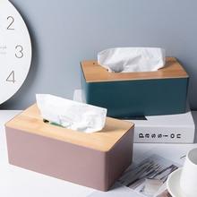 Деревянная коробка для салфеток, экологически чистый контейнер для салфеток для дома, держатель для полотенец, салфеток, чехол для офиса, ук...