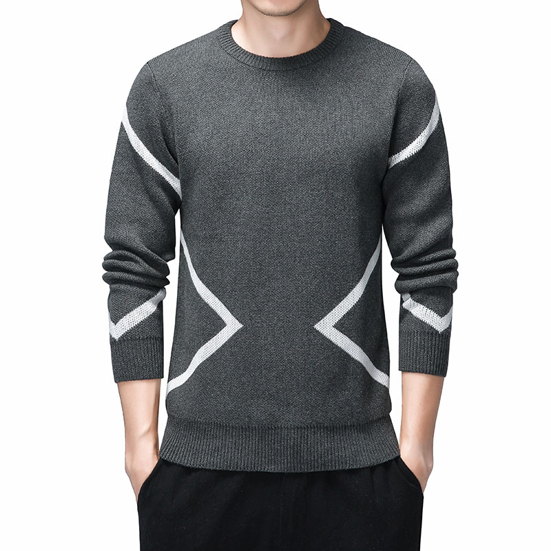 Causal Sweaters Men O-Neck Pullovers Homme 2019 Autumn Long Sleeve Sweater Dress For Men Warm Brand Kinttwear Plus Size Clothes