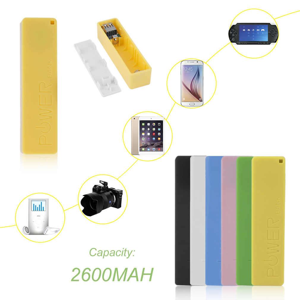 החדש 2600mAh נייד גודל אין סוללה Powerbank 1*18650 סוללה חיצוני גיבוי סוללה מטען כוח בנק מקרה עבור חכם טלפון