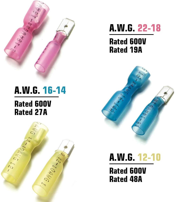100x Waterproof Heat Shrink Bullet Female Male Wire Connectors Electrical Crimp