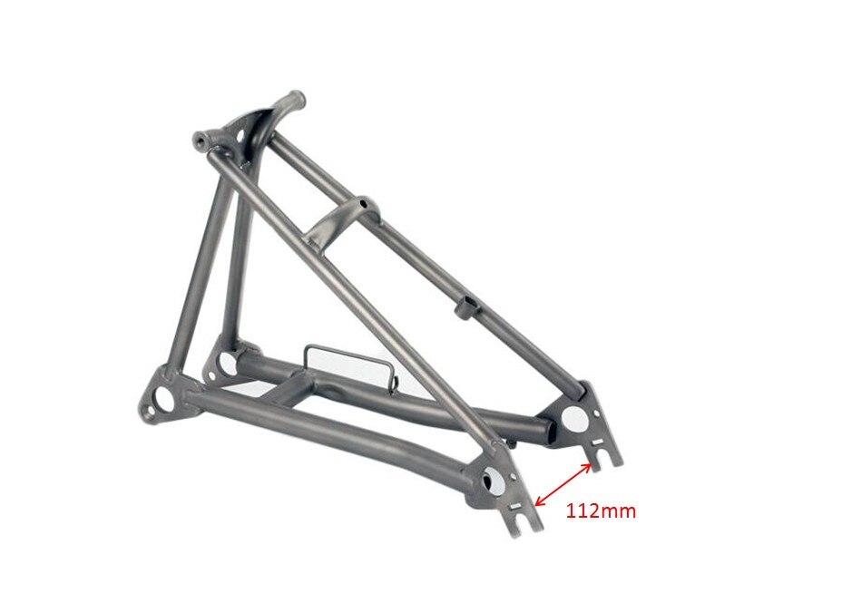 Titanium Rear Triangle/Frame Fit Brompton Bike(Save 350g Than Steel One)