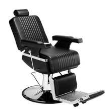 Men's Hairdressing Chair High-End Reclining Chair Black