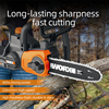 WORX 20V Chain Saw WG322E.1 10inch Electric Chainsaw Bracket Adjustable Garden Power Tools