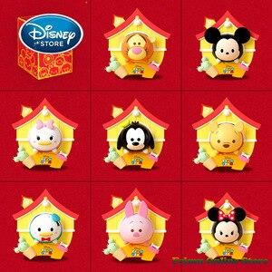 Disney в китайском стиле ЦУМ глухая коробка Микки Минни Винни Пух ПВХ Фигурки Коллекционная модель игрушки для подарка на Рождество