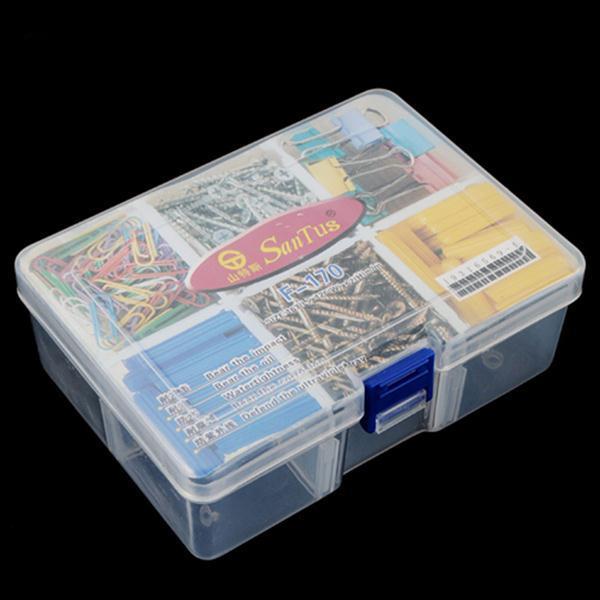 Nail Art Tools Portable Organizer Storage Organizer Clear 6 Compartments Storage Box