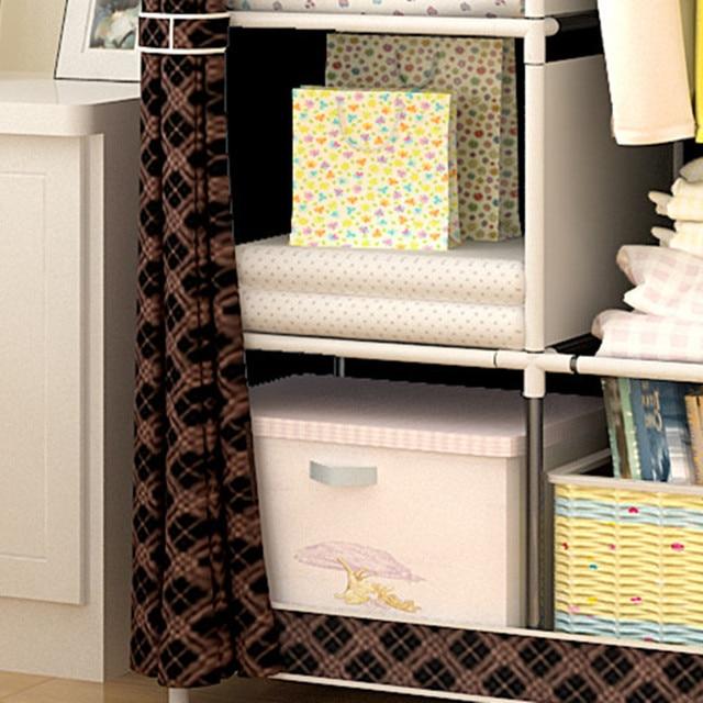 Многоцелевой нетканый шкаф для спальни складной портативный шкаф для хранения одежды пылезащитный чехол гардероб мебель для дома 2