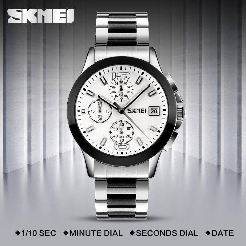 Skmei9126 multifuncional com calendário de três discos