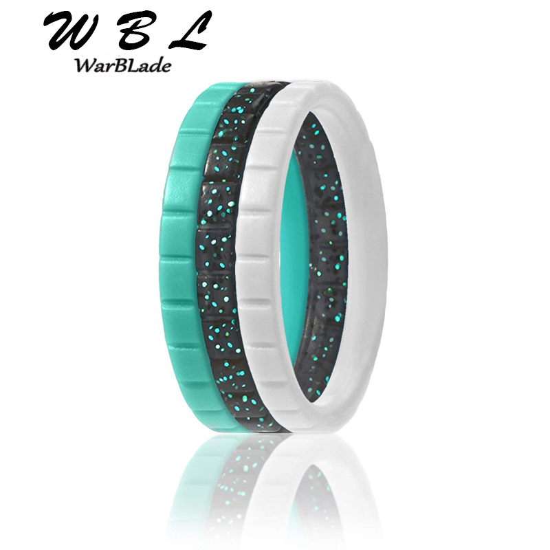 WarBLade 2019 New Crossfit Flexible Silicone Ring Food Grade FDA Silicone Finger Ring For Women Wedding Rings 3mm