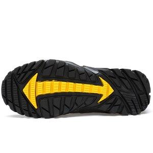 Image 5 - קיץ לנשימה גברים נעלי הליכה זמש + רשת חיצוני גברים ספורט טיפוס נעלי גברים נעלי ספורט מהיר יבש מים נעליים