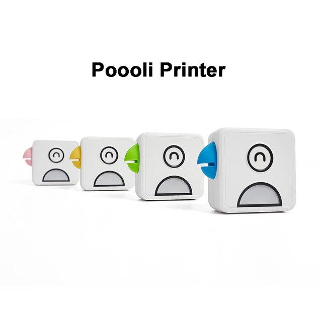 Poooli L1 L2 kuş cep cep taşınabilir Mini 300 Dpi fotoğraf yazıcısı öğrenci yanlış konu sıralama baskı resim listesi afiş