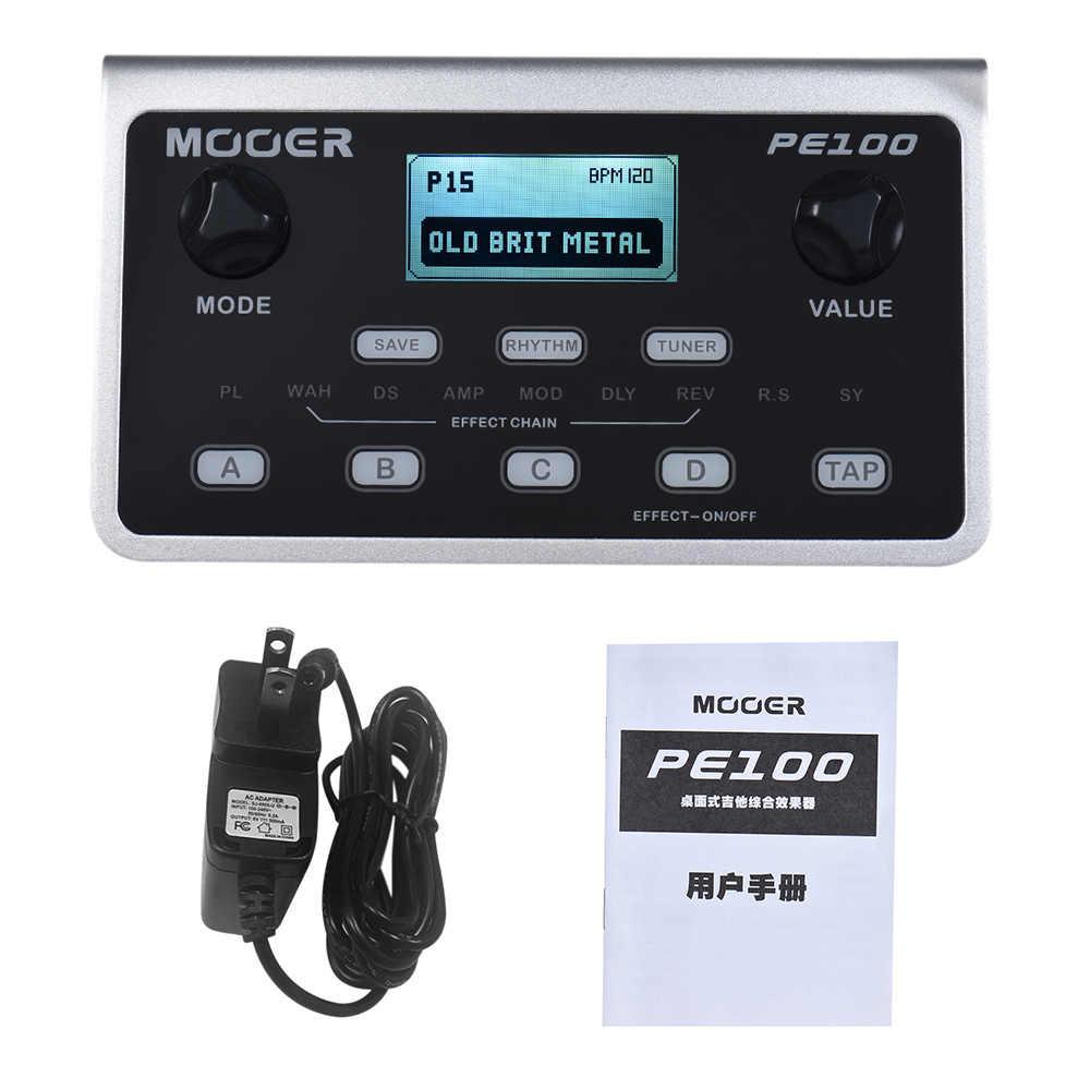 MOOER PE100 Tragbare Multi-effekte Prozessor Gitarre Effekt Pedal 39 Effekte 40 Trommel Muster 10 Metronome Tap Tempo