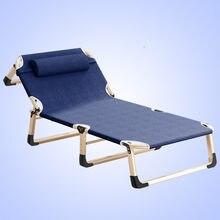 Escritório cochilo cama reclinável simples única escolta cama acampamento portátil lazer cama dobrável