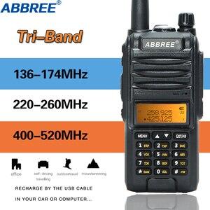 Image 1 - Abbree AR F3 трехдиапазонная рация 8 Вт, Двухдиапазонная и 220 260 МГц, высокомощная рация дальнего действия, передатчик cb, двухсторонняя рация